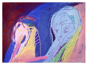 Montgolfière no 5, Peinture/Painting,1985
