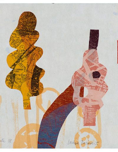 Refonte 18 , Technique mixte en estampe/Mixed media printmaking, 2010