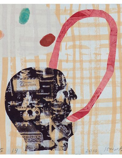 Refonte 14, Technique mixte en estampe/Mixed media printmaking, 2010