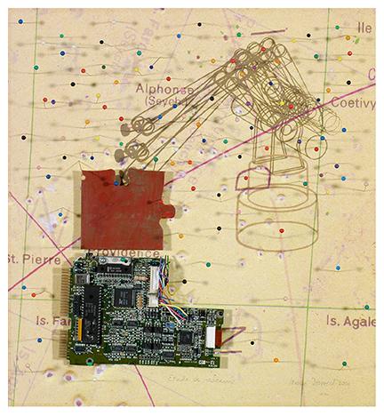 Étude des réseaux, Technique mixte/Mixed Media, 2001