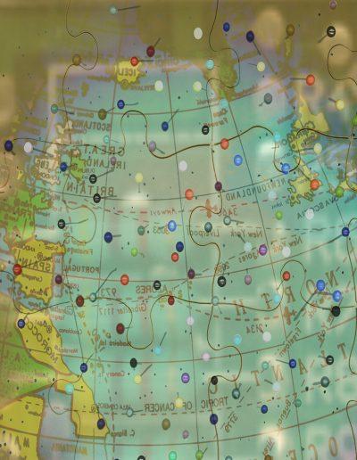 Mappemonde, Impression numérique/Digital print, 2000